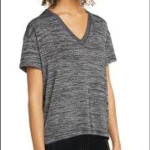 Rag & Bone Heather gray v-neck sleeve t-shirt